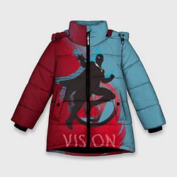 Куртка зимняя для девочки Vision Duo цвета 3D-черный — фото 1