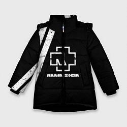 Куртка зимняя для девочки Rammstein: Black цвета 3D-черный — фото 1