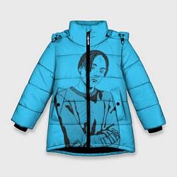 Детская зимняя куртка для девочки с принтом T-Fest, цвет: 3D-черный, артикул: 10182183106065 — фото 1
