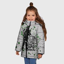 Куртка зимняя для девочки Death Star Security цвета 3D-черный — фото 2