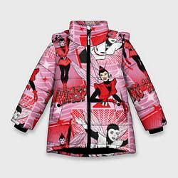 Куртка зимняя для девочки The Wasp цвета 3D-черный — фото 1