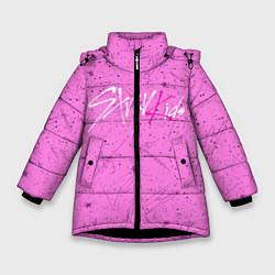 Куртка зимняя для девочки STRAY KIDS АВТОГРАФЫ цвета 3D-черный — фото 1