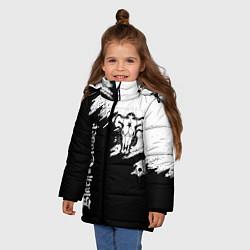 Куртка зимняя для девочки ЧЁРНЫЙ КЛЕВЕР цвета 3D-черный — фото 2