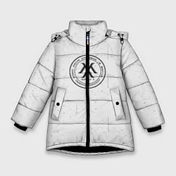 Детская зимняя куртка для девочки с принтом Monsta x, цвет: 3D-черный, артикул: 10187085506065 — фото 1