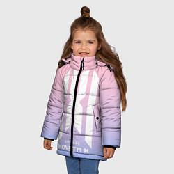Детская зимняя куртка для девочки с принтом Monsta X, цвет: 3D-черный, артикул: 10187558906065 — фото 2