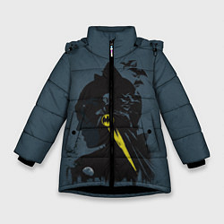 Куртка зимняя для девочки Batman цвета 3D-черный — фото 1