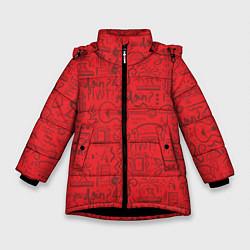 Куртка зимняя для девочки Highlights Friends цвета 3D-черный — фото 1