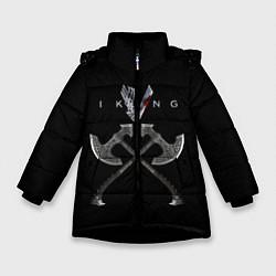 Куртка зимняя для девочки Vikings цвета 3D-черный — фото 1
