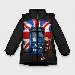 Куртка зимняя для девочки Doctor Who: Bad Wolf цвета 3D-черный — фото 1