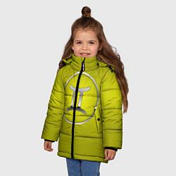 Куртка зимняя для девочки Gemini Близнецы цвета 3D-черный — фото 2
