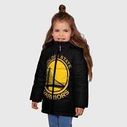 Куртка зимняя для девочки GOLDEN STATE WARRIORS цвета 3D-черный — фото 2