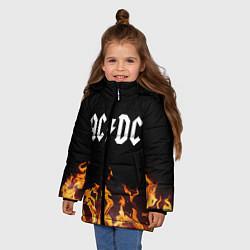 Куртка зимняя для девочки AC DC цвета 3D-черный — фото 2