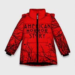 Куртка зимняя для девочки AHS цвета 3D-черный — фото 1