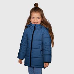 Куртка зимняя для девочки 19-4052 Classic Blue цвета 3D-черный — фото 2