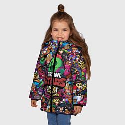 Куртка зимняя для девочки BRAWL STARS SPIKE цвета 3D-черный — фото 2