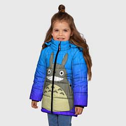 Куртка зимняя для девочки Мой сосед Тоторо цвета 3D-черный — фото 2