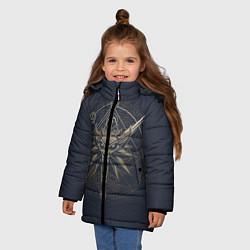 Куртка зимняя для девочки Ведьмак 3: Дикая Охота цвета 3D-черный — фото 2