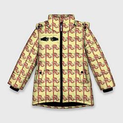 Куртка зимняя для девочки Black mask цвета 3D-черный — фото 1
