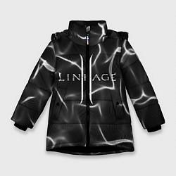 Детская зимняя куртка для девочки с принтом LINEAGE 2, цвет: 3D-черный, артикул: 10202647106065 — фото 1