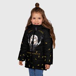 Куртка зимняя для девочки Ведьмаку заплатите цвета 3D-черный — фото 2