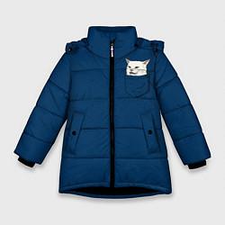 Куртка зимняя для девочки СМАДЖ В КАРМАНЕ цвета 3D-черный — фото 1