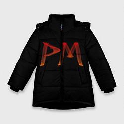 Куртка зимняя для девочки Пэйтон Мурмайер цвета 3D-черный — фото 1