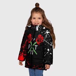 Куртка зимняя для девочки Payton Moormeier цвета 3D-черный — фото 2
