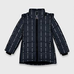 Куртка зимняя для девочки FUCK YOU как у Конор МакГрегор цвета 3D-черный — фото 1