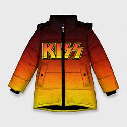 Куртка зимняя для девочки KISS цвета 3D-черный — фото 1