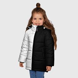 Куртка зимняя для девочки ПРОСТО ЧЁРНО-БЕЛЫЙ цвета 3D-черный — фото 2