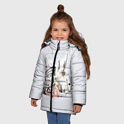 Куртка зимняя для девочки Юрий Гагарин космический свет цвета 3D-черный — фото 2