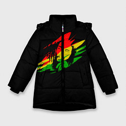 Куртка зимняя для девочки Боб Марли цвета 3D-черный — фото 1