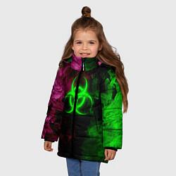 Куртка зимняя для девочки NCoV цвета 3D-черный — фото 2