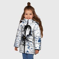 Куртка зимняя для девочки Призрак в доспехах цвета 3D-черный — фото 2