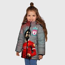 Куртка зимняя для девочки Mohamed Salah цвета 3D-черный — фото 2