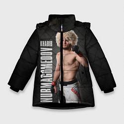 Куртка зимняя для девочки Хабиб Нурмагомедов цвета 3D-черный — фото 1
