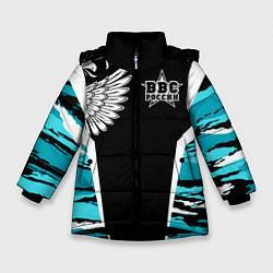 Куртка зимняя для девочки ВВС России Камуфляж цвета 3D-черный — фото 1