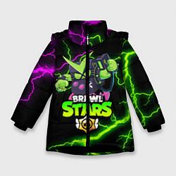 Куртка зимняя для девочки BRAWL STARS VIRUS 8-BIT цвета 3D-черный — фото 1