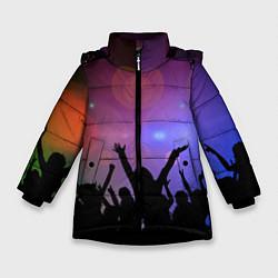 Куртка зимняя для девочки Пати цвета 3D-черный — фото 1