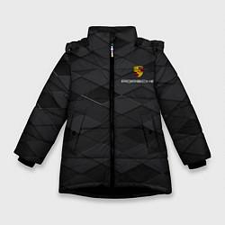 Куртка зимняя для девочки PORSCHE цвета 3D-черный — фото 1