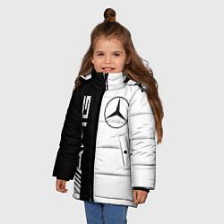 Куртка зимняя для девочки MERCEDES AMG цвета 3D-черный — фото 2
