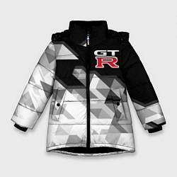 Куртка зимняя для девочки NISSAN GTR цвета 3D-черный — фото 1
