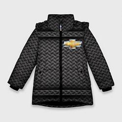 Куртка зимняя для девочки CHEVROLET цвета 3D-черный — фото 1