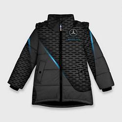 Куртка зимняя для девочки Mercedes-AMG цвета 3D-черный — фото 1