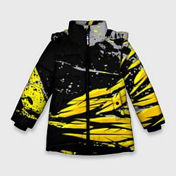 Куртка зимняя для девочки Форма для фитнеса цвета 3D-черный — фото 1