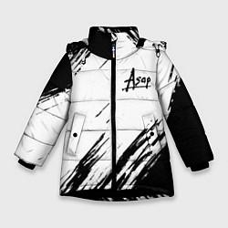 Куртка зимняя для девочки ASAP ROCKY цвета 3D-черный — фото 1