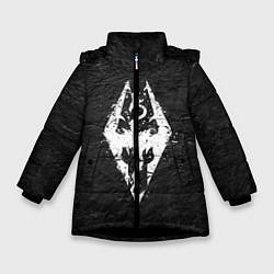 Куртка зимняя для девочки THE ELDER SCROLLS цвета 3D-черный — фото 1
