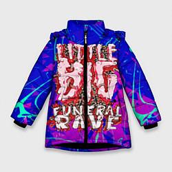 Куртка зимняя для девочки Little Big: Rave цвета 3D-черный — фото 1