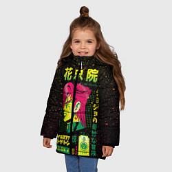 Куртка зимняя для девочки Приключения ДжоДжо цвета 3D-черный — фото 2