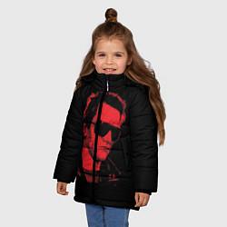 Куртка зимняя для девочки The Terminator 1984 цвета 3D-черный — фото 2